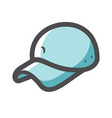 baseball cap style headwear icon cartoon vector image