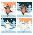 bear on ice vector image