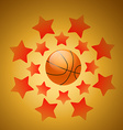beautiful background of basketball vector image vector image