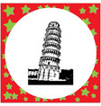 black 8-bit leaning tower of pisa italy vector image vector image