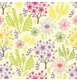 Blossoming trees seamless pattern background vector image vector image