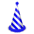 blue birthday cap vector image