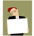 Businessman or a manager vector image vector image