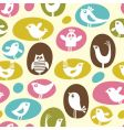 Cartoon birds pattern vector | Price: 1 Credit (USD $1)