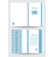 Certificate or diploma template with ethnic vector image