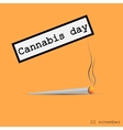 Cigarette with marijuana vector image
