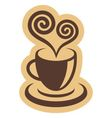Coffee cup and heart symbol vector image