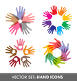 Collection of hand icons vector | Price: 1 Credit (USD $1)