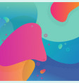 colorful abstract geometric background liquid vector image vector image