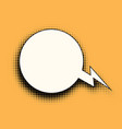 comic bubble halftones vector image vector image