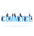 commerce business concept vector image