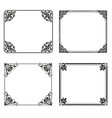 decorative frames and borders backgrounds vintage vector image vector image