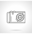 Digital camera icon flat line icon vector image