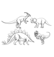 Dinosaurs set Hand drawn vector image