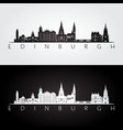 Edinburgh skyline and landmarks silhouette