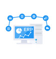 erp software vector image