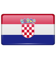 Flags Croatia in the form of a magnet on vector image vector image