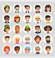 flat cartoon round avatars on white vector image vector image