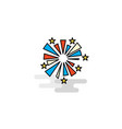 flat fireworks icon vector image vector image