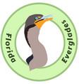 florida everglades cormorant logo vector image vector image