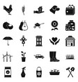 grange icons set simple style vector image vector image