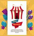 happy carnival design vector image