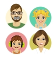 happy family face portrait vector image vector image