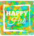 happy holi spring festival vector image vector image
