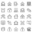 homeschooling outline icons set home vector image