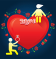Human Symbol Love Story Marry Concept vector image vector image