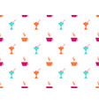ice cream seamless pattern coffee mug icons vector image vector image