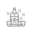 japanese sake alcohol line icon vector image vector image