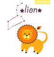 lion constellation with star sign vector image vector image
