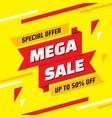mega sale special offer - concept banner il vector image vector image