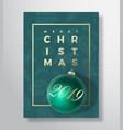 merry christmas abstract greeting card vector image