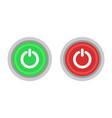 off and on button power button vector image vector image