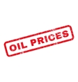 Oil Prices Rubber Stamp vector image vector image