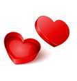 open gift heart vector image vector image