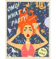Party invitation design vector image vector image