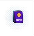Passport comics icon vector image vector image
