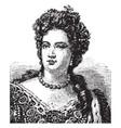 queen anne of great britain vintage vector image vector image