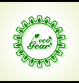 Save Nature concept with leaf and gear vector image