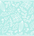 seamless color floral pattern vector image