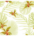 seamless floral tropical pattern cattleya orchid vector image vector image