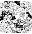 seamless pattern with branches and leaves jungle vector image vector image