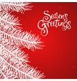 seasons greetings text vector image vector image