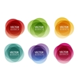 set colorful round abstract banners graphic vector image vector image