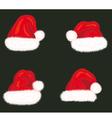 Set of holiday hats of Santa Claus