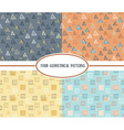 set seamless abstract geometric colorful vector image vector image