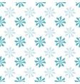 simmple blue geometric flower design seamless vector image vector image